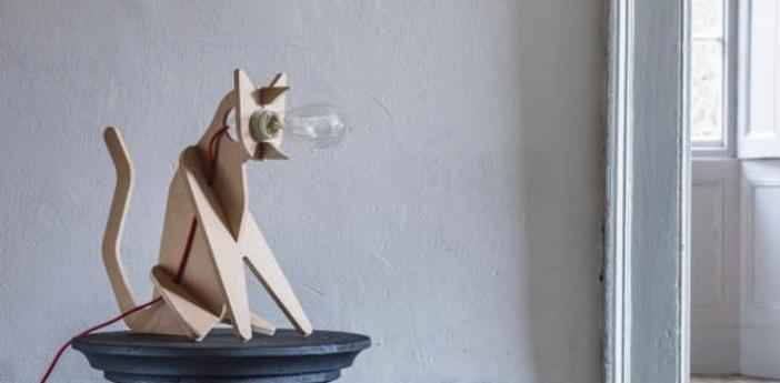 Lampe chat get out cat naturel h35cm eno studio normal