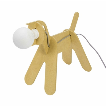 Lampe chien get out dog moutarde h35cm eno studio normal