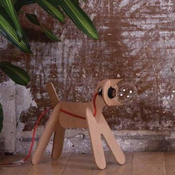 Lampe chien get out dog naturel h35cm eno studio normal