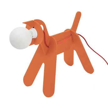 Lampe chien get out dog orange h35cm eno studio normal