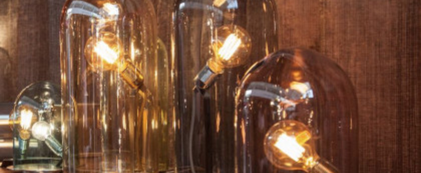 Lampe cloche glow in a dome or base laiton h25 5cm ebb and flow ebbandflow la101687 di101687 normal