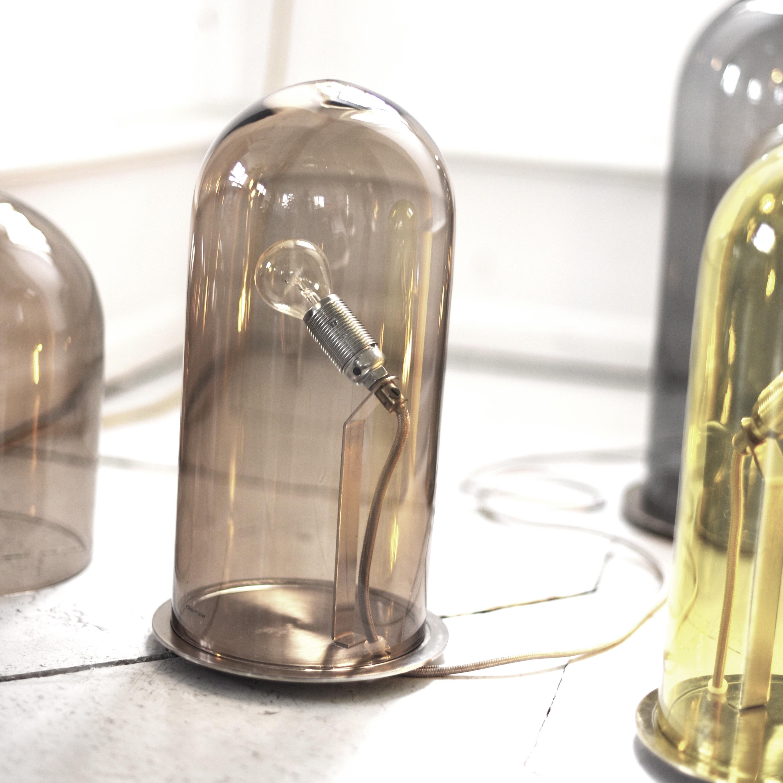 Lampe  poser Semplice noir transparent H39cm Oluce