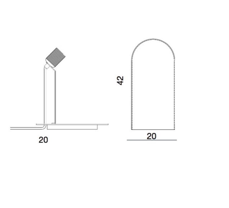 Lampe cloche speak up tranparent base laiton h42cm ebb and flow 49387 product