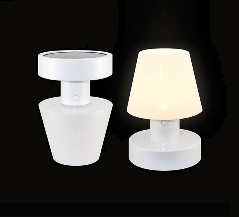 lampe d 39 ext rieur sans fil solaire blanc h20cm bloom holland nedgis. Black Bedroom Furniture Sets. Home Design Ideas