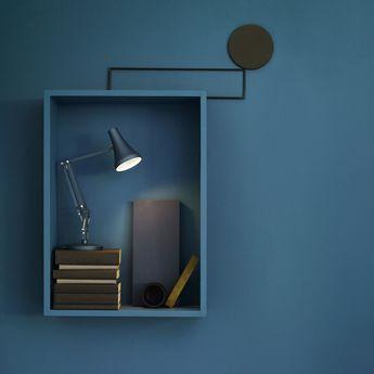Lampe de bureau 90 mini mini bleu gris led 3000k 470lm l18cm h52cm anglepoise normal