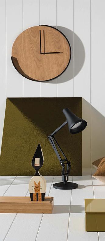 Lampe de bureau 90 mini mini noir carbone led 3000k 470lm l18cm h52cm anglepoise normal