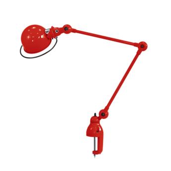 Lampe de bureau a etau loft d4040 rouge l40cm h72cm max jielde normal