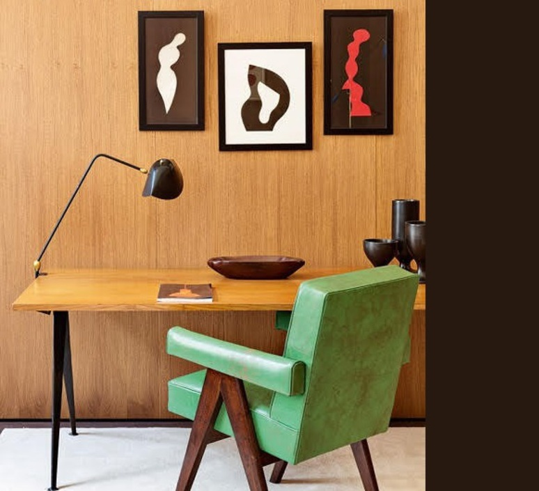 lampe de bureau agraf e deux rotules noir h67cm serge. Black Bedroom Furniture Sets. Home Design Ideas