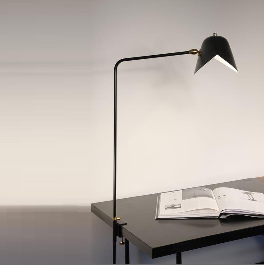 Desk lamp Agrafe simple black H70cm Serge Mouille Nedgis