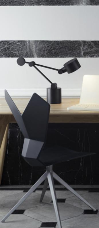 Lampe de bureau boom noir o54 9cm h41 2cm tom dixon normal