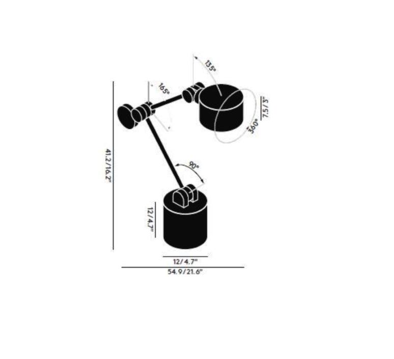 Boom   lampe de bureau desk lamp  tom dixon bmtl01blkeu  design signed 38347 product