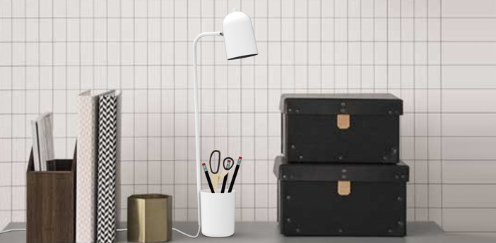 Lampe de bureau buddy blanc h49cm northern lighting normal