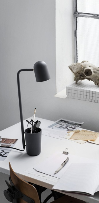 Lampe de bureau buddy gris mat h49cm northern lighting normal