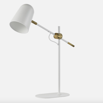 Lampe de bureau bureau blanc o14cm h52cm bolia normal