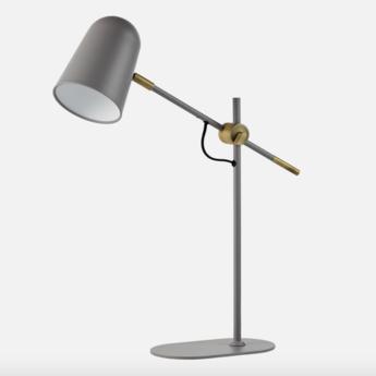Lampe de bureau bureau gris o14cm h52cm bolia normal