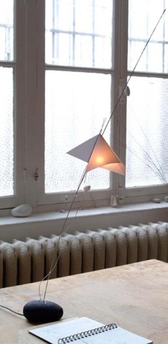 Lampe de bureau cerf volant blanc h9cm celine wright normal