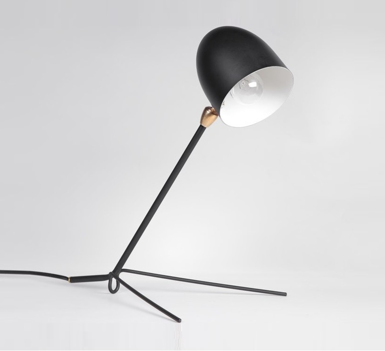 lampe de bureau cocotte noir h34cm serge mouille luminaires nedgis. Black Bedroom Furniture Sets. Home Design Ideas