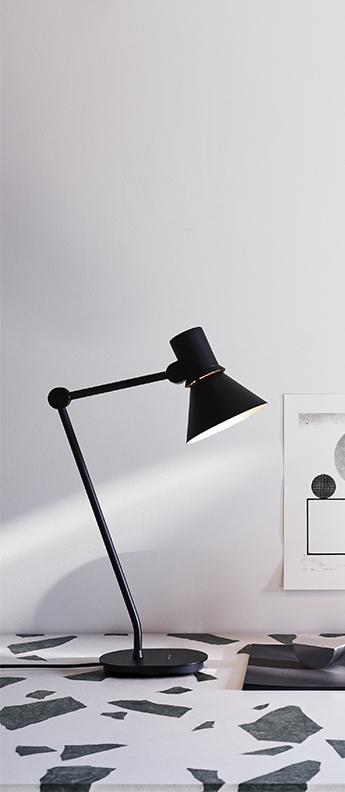 Lampe de bureau desk lamp type 80 noir mat l32cm h48cm anglepoise normal