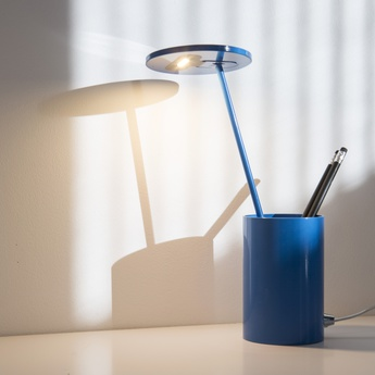 Lampe de bureau e t bleu h26 7cm formagenda normal