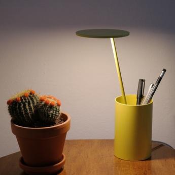 Lampe de bureau e t jaune h26 7cm formagenda normal