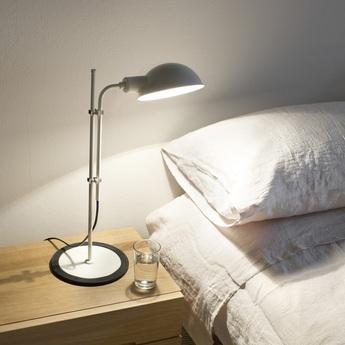 Lampe de bureau funiculi blanc casse h50 3cm marset normal