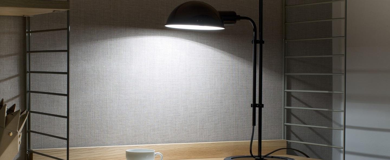 Lampe de bureau funiculi noir h50 3cm marset normal