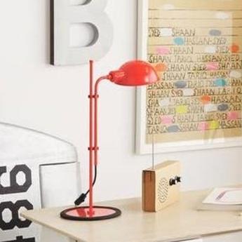 Lampe de bureau funiculi rouge h50 3cm marset normal