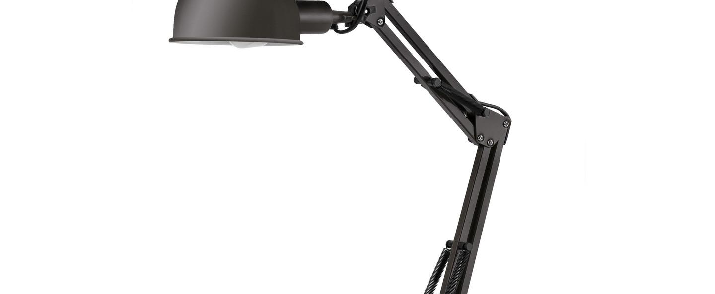 Lampe de bureau industrielle noir h49cm baobab faro normal