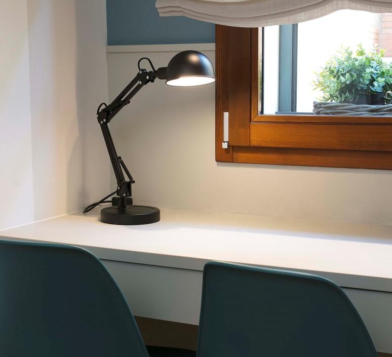 Lampe de bureau industrielle noir h49cm baobab faro 54196 product