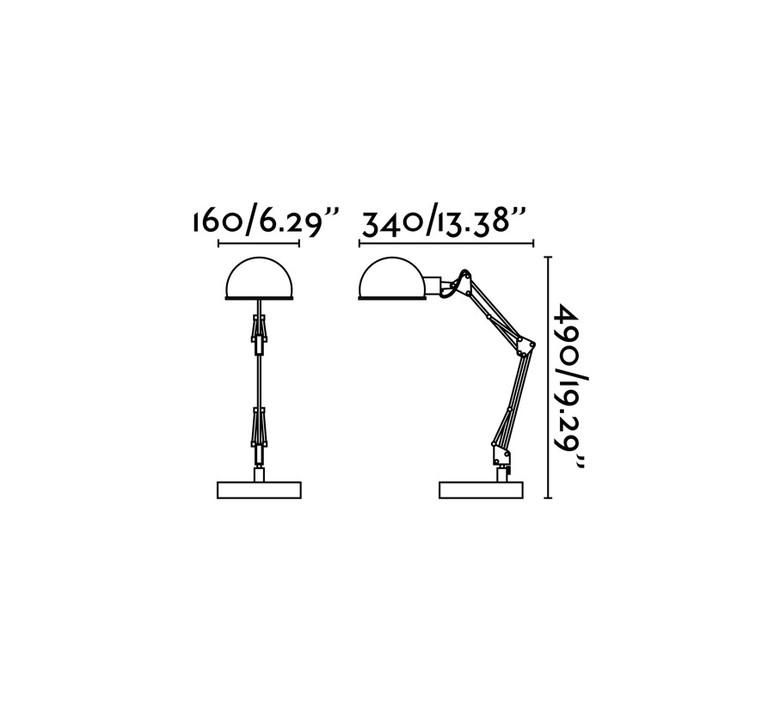 Lampe de bureau industrielle noir h49cm baobab faro 54198 product