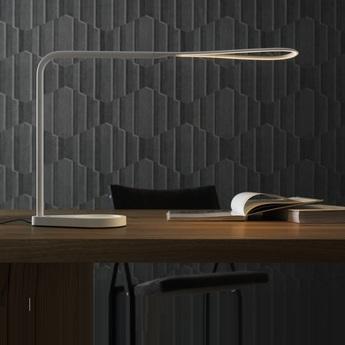 Lampe de bureau kinx led port usb blanc h43cm fontana arte normal