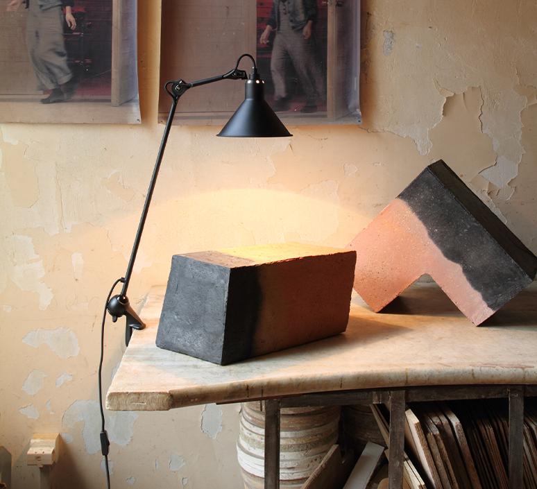 Lampe gras n 201 bernard albin gras lampe de bureau desk lamp  dcw 201 bl bl conic  design signed nedgis 115637 product