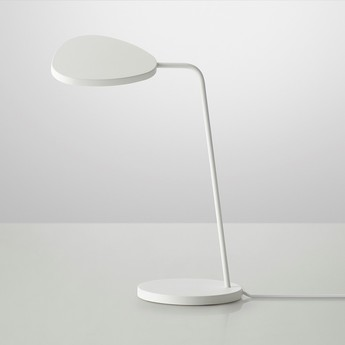 Lampe de bureau leaf blanc h41 5cm muuto normal