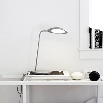 Lampe de bureau leaf gris h41 5cm muuto normal