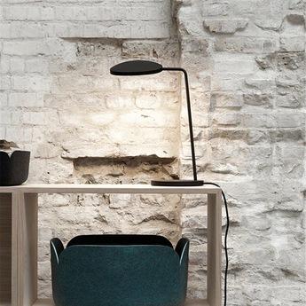 Lampe de bureau leaf noir h41 5cm muuto normal