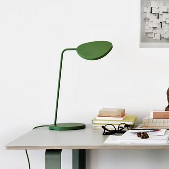 Lampe de bureau leaf vert h41 5cm muuto normal