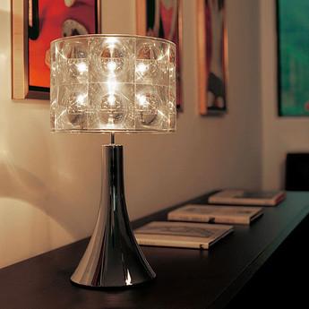 Lampe de bureau lighthouse transparent chrome h55cm innermost normal