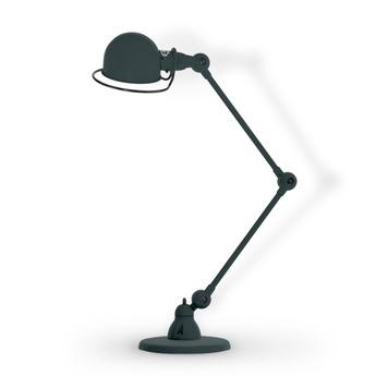 Lampe de bureau loft 2 bras gris granit mat o15cm h80cm jielde normal