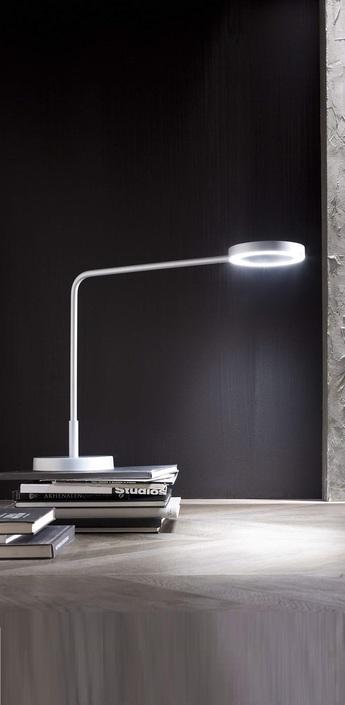 Lampe de bureau meta blanc h48 5cm led zava normal