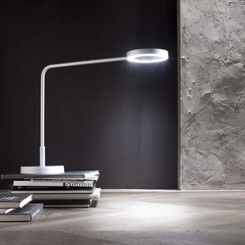 Desk lamp, Meta, white, H48,5cm, L55cm LED, 3000K, 1095lm