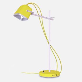 Lampe de bureau mob jaune o14cm h55cm swabdesign normal