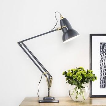 Lampe de bureau original 1227 brass gris clair h60cm anglepoise normal
