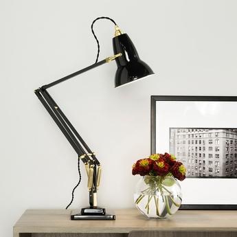 Lampe de bureau original 1227 brass gris fonce h60cm anglepoise normal
