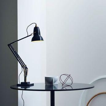 Lampe de bureau original 1227 brass noir l46cm h60cm anglepoise normal