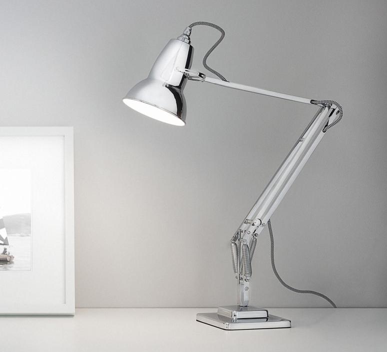 lampe de bureau original 1227 chrome h60cm anglepoise luminaires nedgis. Black Bedroom Furniture Sets. Home Design Ideas