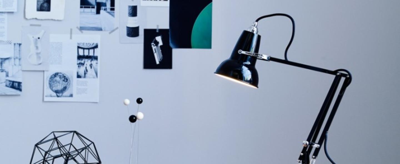 Lampe de bureau original 1227 mini noir h48cm anglepoise normal