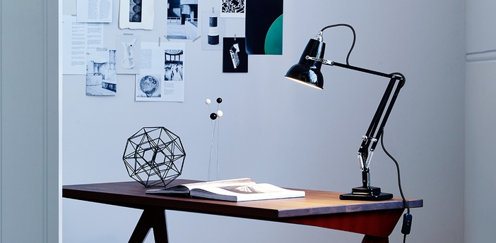 Lampe de bureau original 1227 mini noir h48cm anglepoise normal
