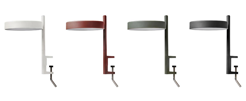 Lampe de bureau pastille c1 vert olive led 2700k 690lm l17cm h26 5cm wastberg normal