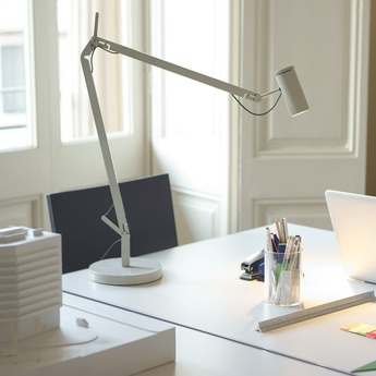 Lampe de bureau polo blanc led h44cm marset normal
