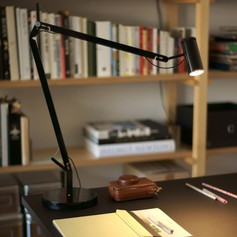 Lampe de bureau polo noir led h44cm marset normal